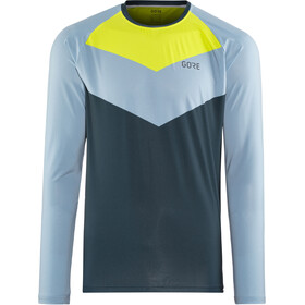 GORE WEAR C5 Trail Longsleeve Jersey Herre deep water blue/cloudy blue